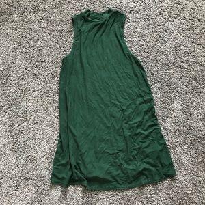 Topshop High Neck Sleeveless Swing Mini Dress